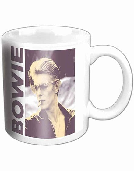 David Bowie Mug Smoking Portrait