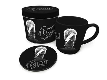 David Bowie X-Ray Mug & Coaster In Tin