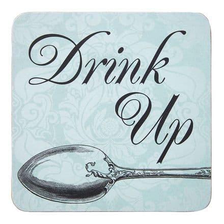 Drink Up Cork Coasters Set of 4