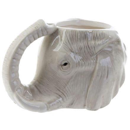 Elephant Head Shaped Ceramic Mug