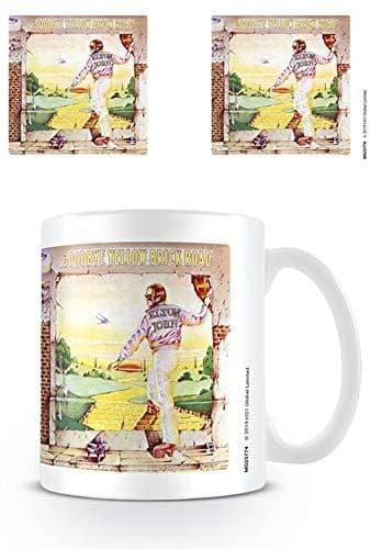 Elton John Goodbye Yellow Brick Road Ceramic Mug