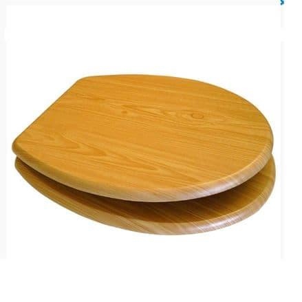 Euroshowers MDF Toilet Seat - Antique Pine