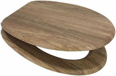 Euroshowers MDF Toilet Seat - Rustic Oak