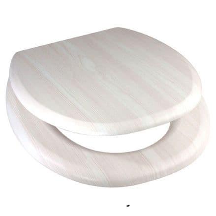 Euroshowers MDF Toilet Seat - White Ash