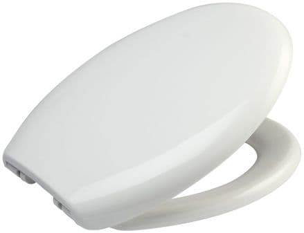 Euroshowers White Simple Quick Release & Soft Closing Toilet Seat
