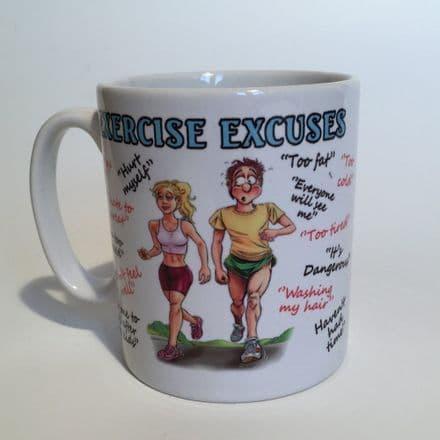 Exercise Excuses Ceramic Mug