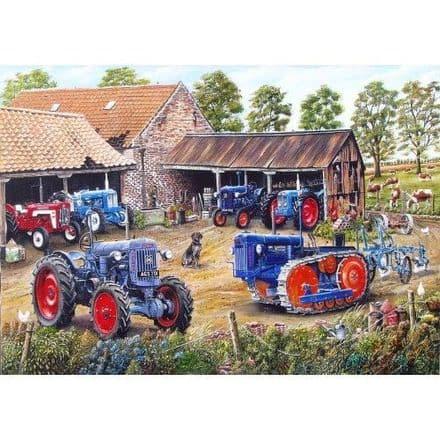 Farmyard Fords 1000 Piece Jigsaw Puzzle