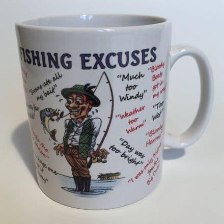 Fishing Excuses Ceramic Mug