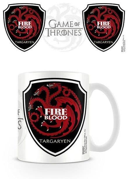 Game Of Thrones Targaryen Blood and Fire Logo Ceramic Mug
