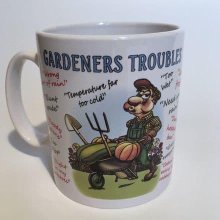 Gardeners Troubles Ceramic Mug