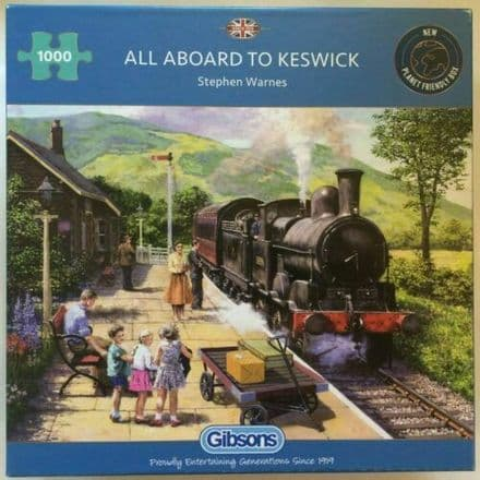 Gibsons All Aboard To Keswick 1000 Piece Jigsaw Puzzle