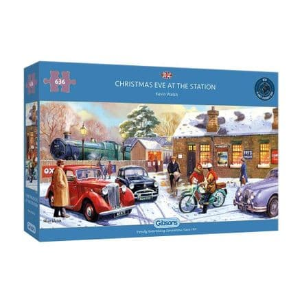 Gibsons Christmas Eve at the Station 636 Piece Jigsaw Puzzle