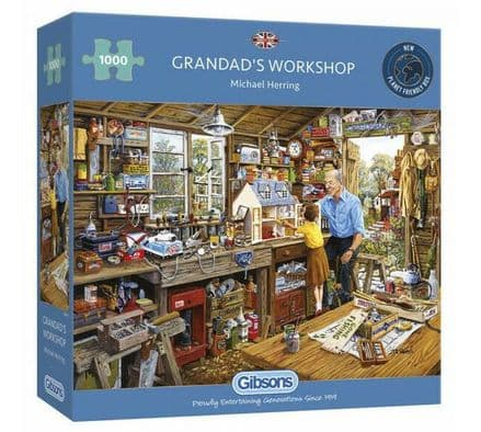 Gibsons Grandad's Workshop 1000 Piece Jigsaw Puzzle