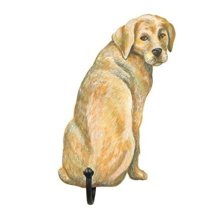 Golden Labrador Shaped Single Hook