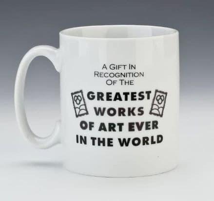Greatest Works Of Art Behind The Lines Heat Change Mug