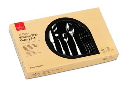 Grunwerg Windsor Style 24 Piece Cutlery Set