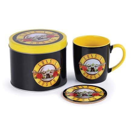 Guns N' Roses Bullet Logo Mug & Coaster In Tin