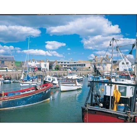 Harbour Scene West By Dorset 1000 Piece Jigsaw Puzzle
