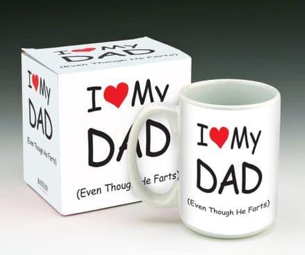 I Heart My Dad Funny Novelty Mug