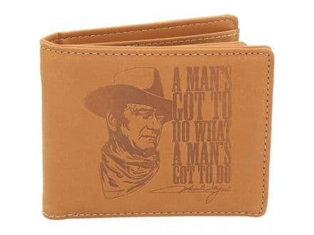"""John Wayne """"A man´s got to do what a man´s got to do"""" Wallet"""