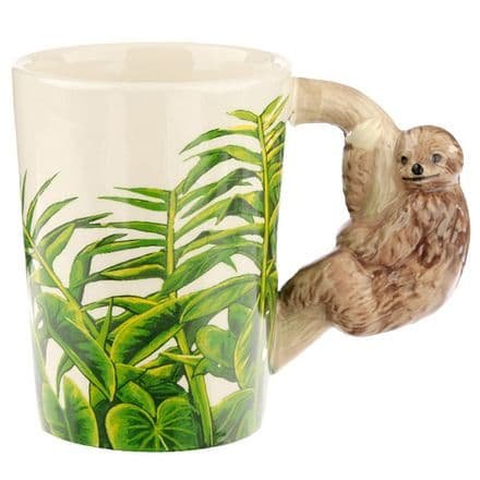 Jungle Explorer Sloth Shaped Handle Mug