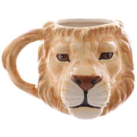 Lion Head Shaped Ceramic Mug