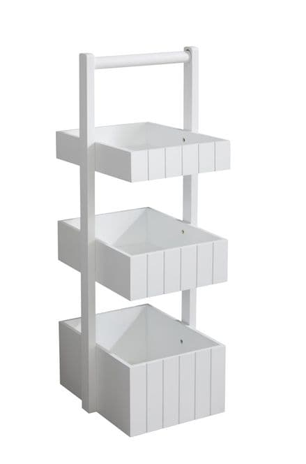 Lloyd Pascal White Painted 3 Tier Caddy