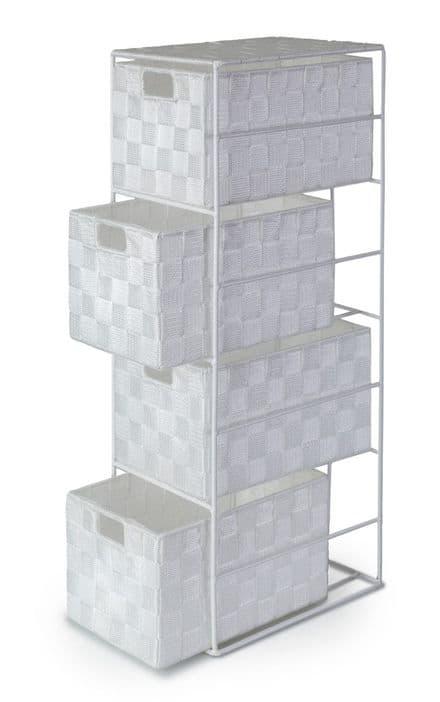 Madrid White Cabinet 4 Drawer