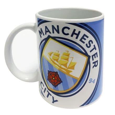 Manchester City Halftone 11oz Mug