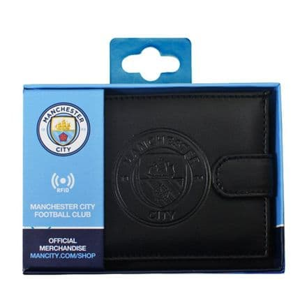 Manchester City RFID Embossed Leather Wallet