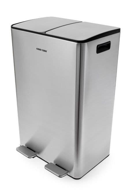Mayfair 60L Recyle Bin + Internal Kitchen Waste Holder Stainless Steel