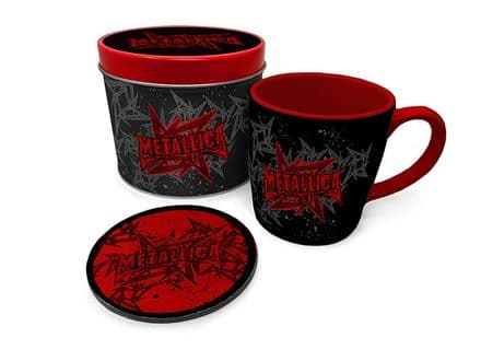 Metallica Stars And Wings  Mug & Coaster In Tin