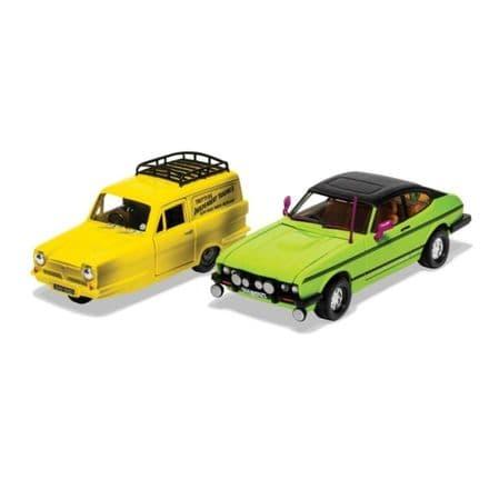 Only Fools and Horses Del Boy's Reliant Regal and Ford Capri MkII Diecast Model 1:36 Corgi CC99189