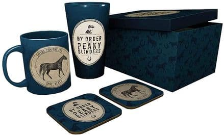 Peaky Blinders Gift Set by Order of Mug Coaster and Pint Glass