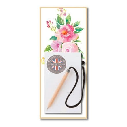 Pink Flower Magnetic Notepad