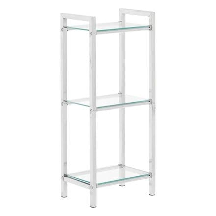 Premier Housewares 3 Tier Shelf Unit with Tempered Glass