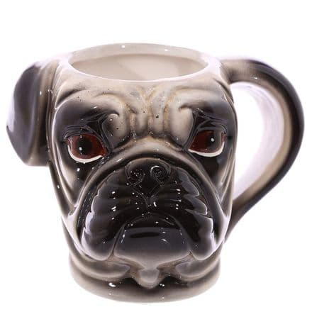 Pug Shaped Ceramic Mug