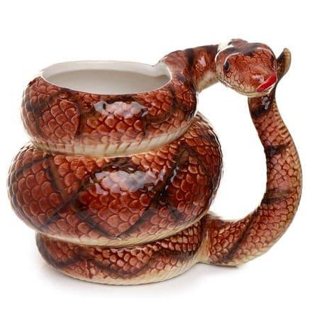 Python Coiled Snake Ceramic Shaped Mug