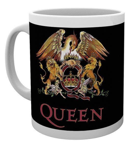 Queen Crest Glass Stein