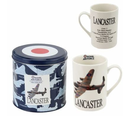 R.A.F. Tin Box Gift Set with Photographic Mug - Lancaster