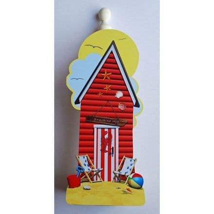Red Beach Hut Spare Kitchen Roll Holder