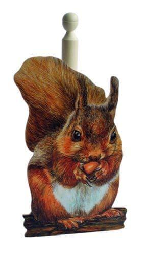 Red Squirrel Kitchen Roll Holder