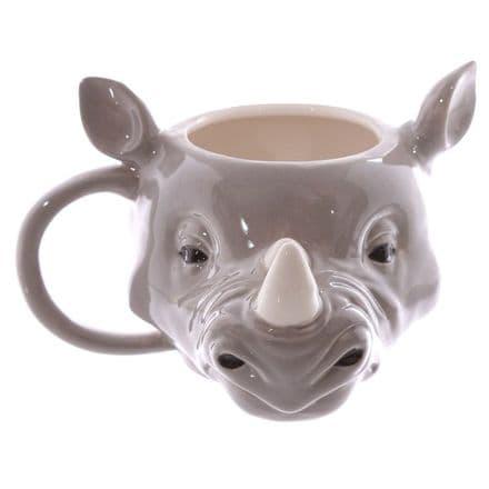 Rhino Head Shaped Ceramic Mug