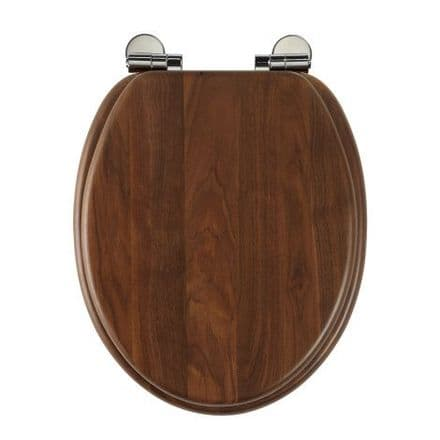 Roper Rhodes Traditional Walnut Toilet Seat With Soft Close Hinge