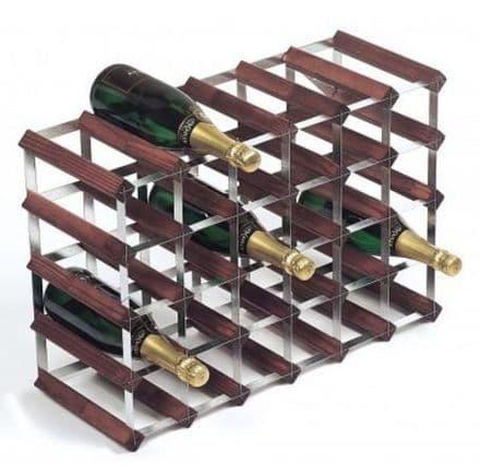 RTA 30 Bottle Assembled Stained Pine Wine Rack WNRK4106