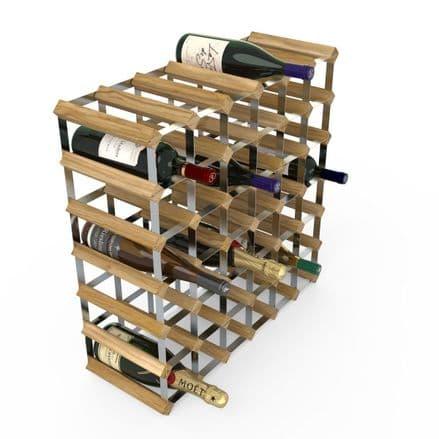 RTA 42 Bottle Light Oak Stained Pine Wine Rack Kit