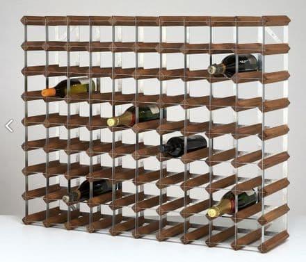 RTA 90 Bottle Dark Stained Pine Wine Rack