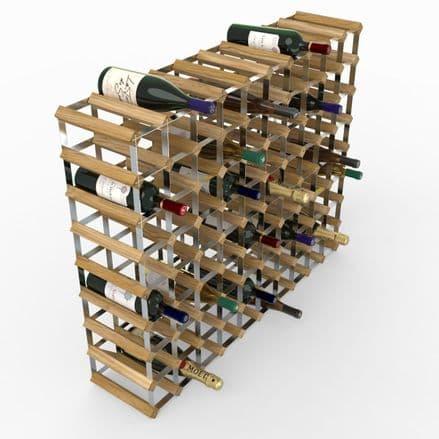 RTA 90 Bottle Light Oak Stained Pine Wine Rack