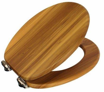 Showerdrape Norfolk Antique Pine Finish MDF Soft Close Toilet Seat