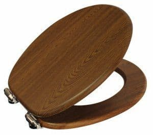 Showerdrape Norfolk Walnut Finish MDF Soft Close Toilet Seat